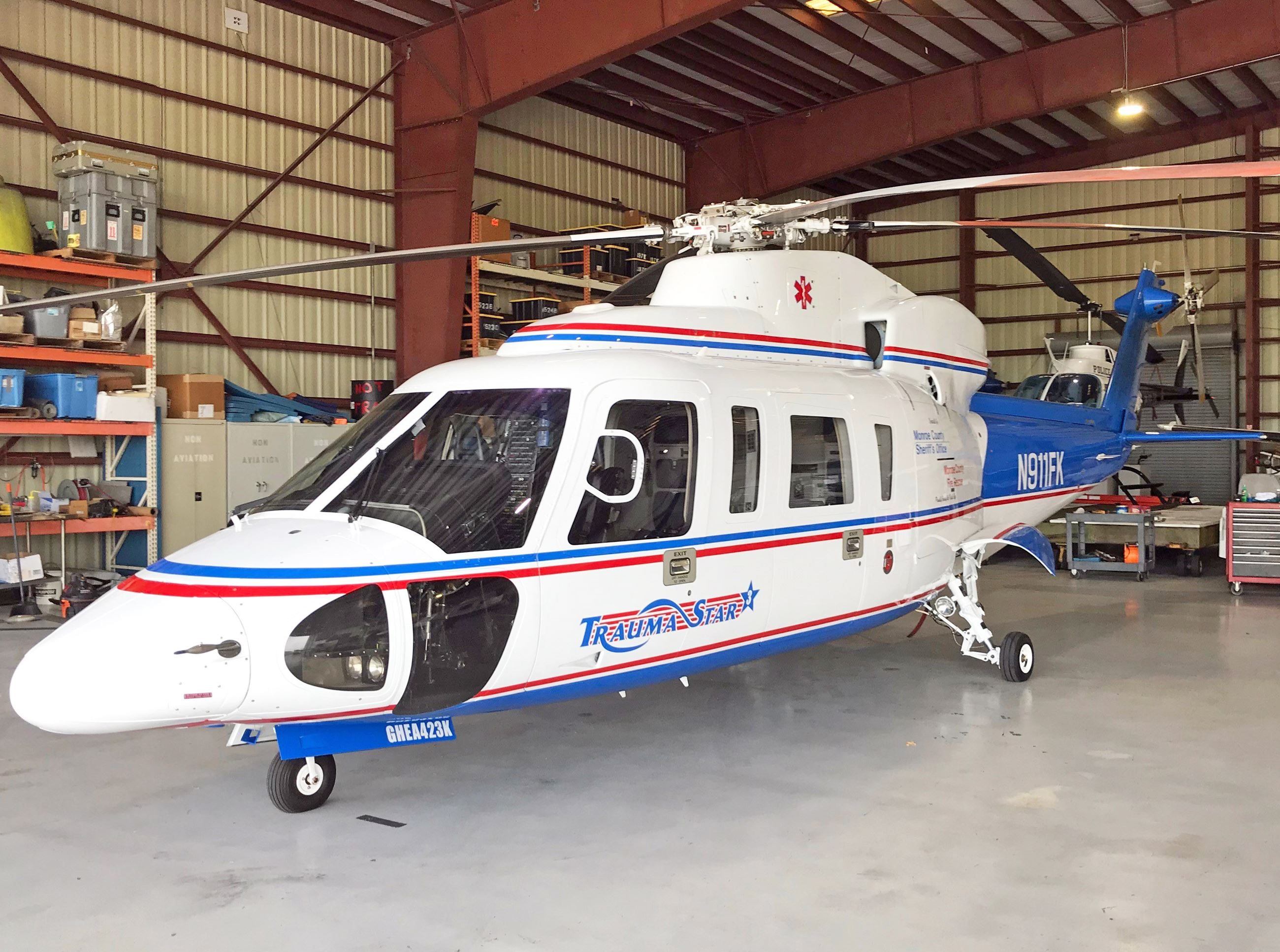 The new Trauma Star Helicopter arrives in Oct. 2019