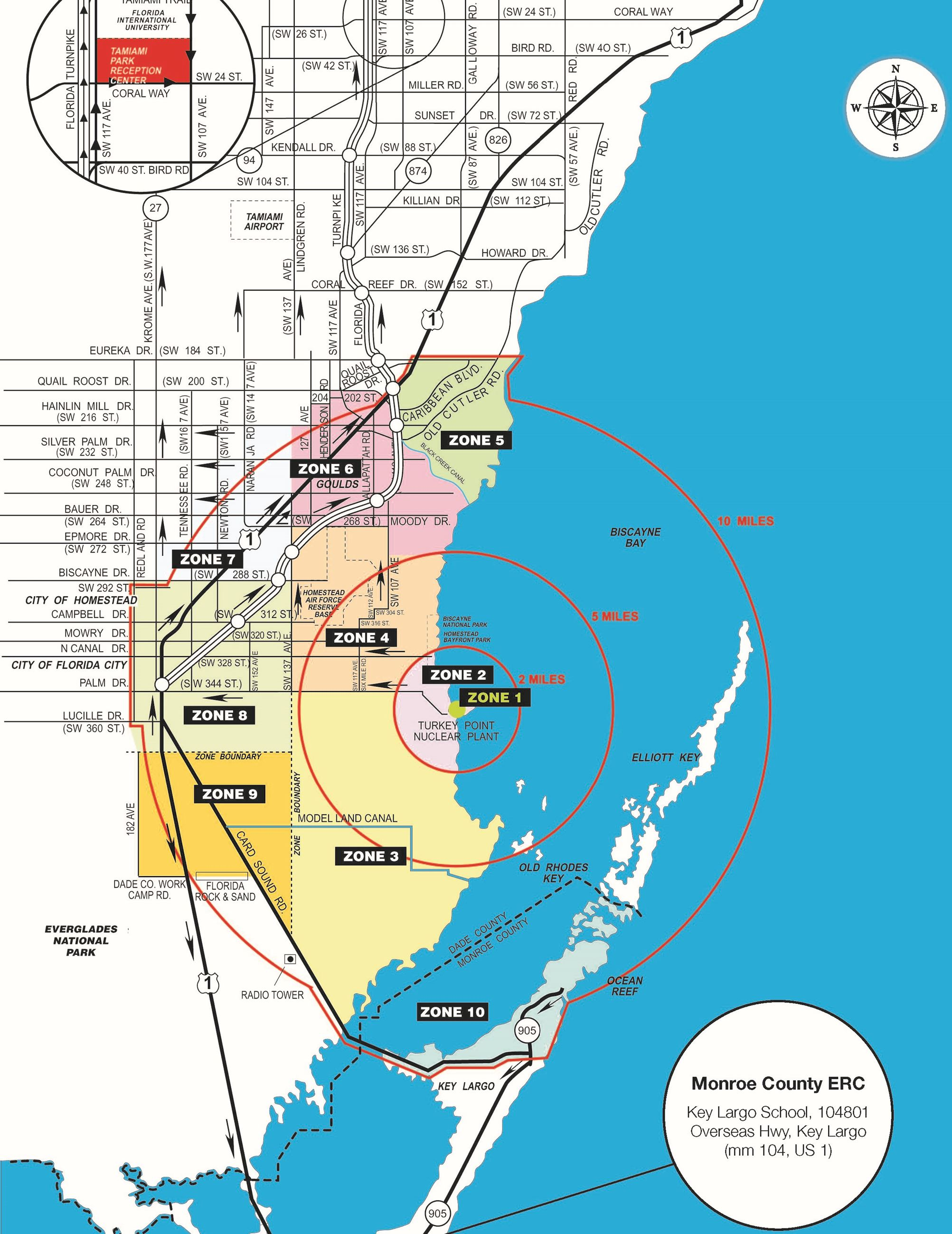 Turkey Point planning map with zones