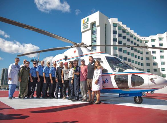 Picture of crew at trauma star reunion