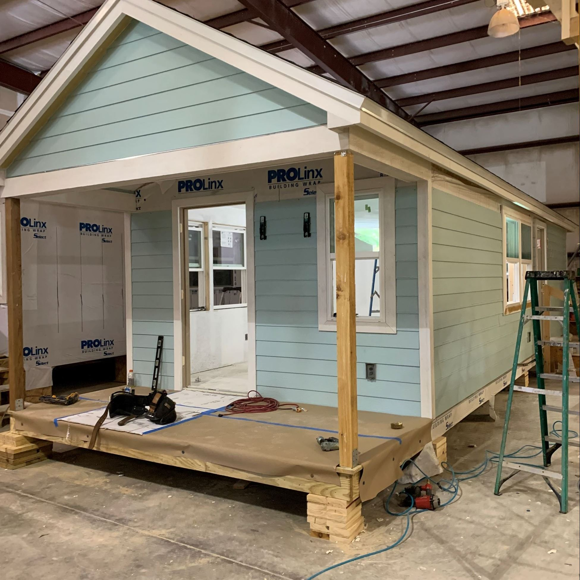 The tiny home before it is moved to the Key Largo site.