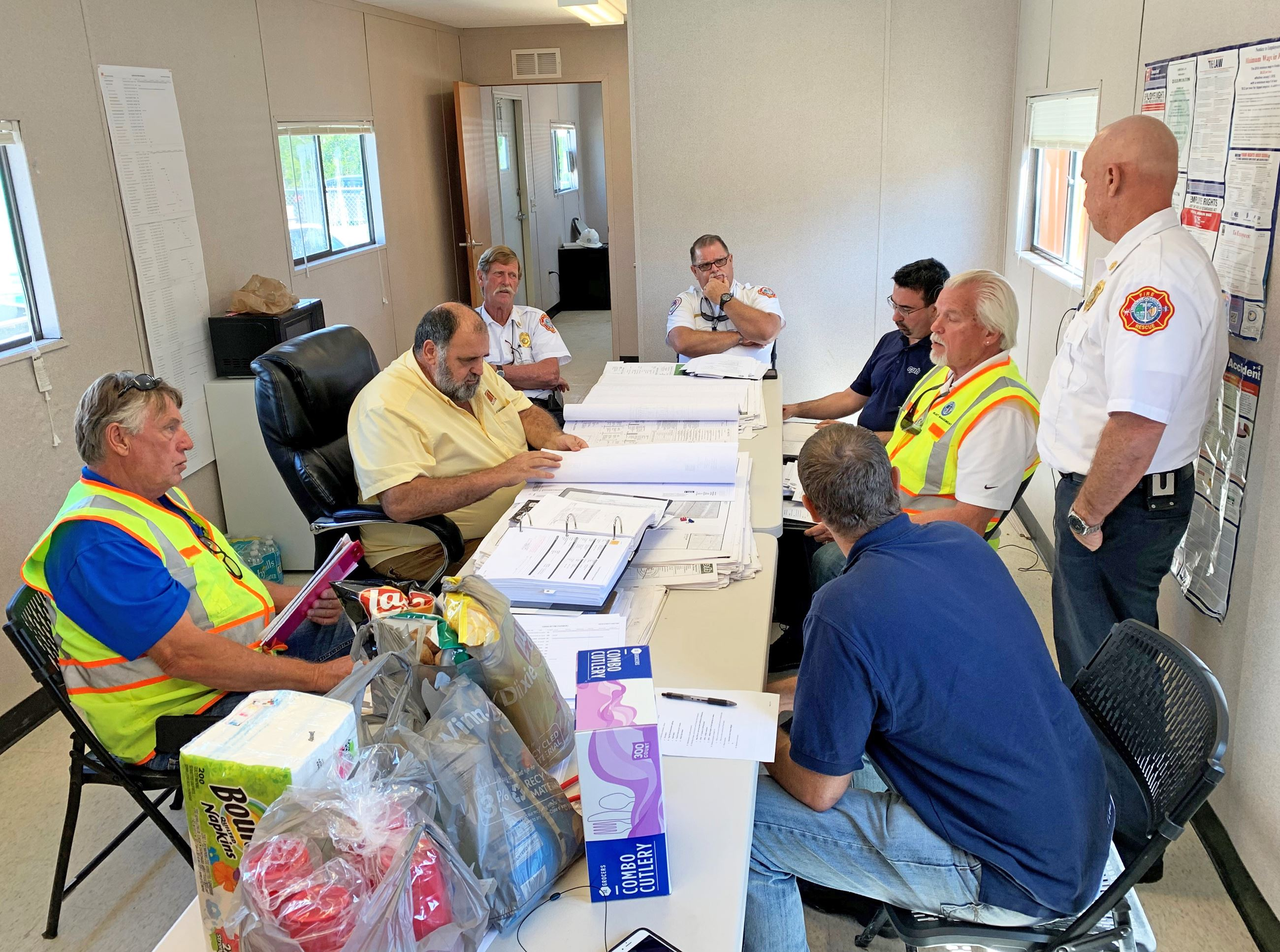 A meeting to go over plans for the Cudjoe Key fire station